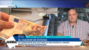 video entrevista alberto mondragon cazador estafas eitb